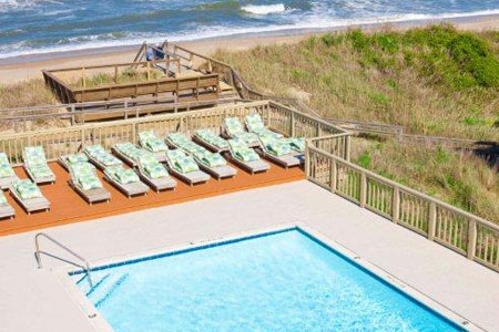 Private Pool at Surf Side Hotel in Nags Head NC