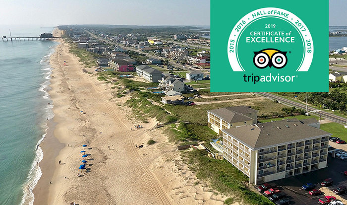 Surf Side TripAdvisor 5 year excellence award